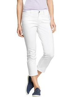 "The Sweetheart Denim Capris 22"" (Bright White) - OLD NAVY"