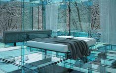 Italian Santambrogio's Glass furniture Concept Homes...