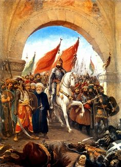 Fatih'in İstanbul'a Girişi Tablo - Kanvas Tablolar - Atlantis Tablo