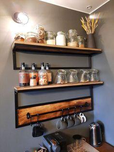 Industrial Kitchen Design, Kitchen Pantry Design, Industrial Design Furniture, Home Decor Kitchen, Interior Design Kitchen, Diy Kitchen, Kitchen Furniture, Home Kitchens, Home Furniture