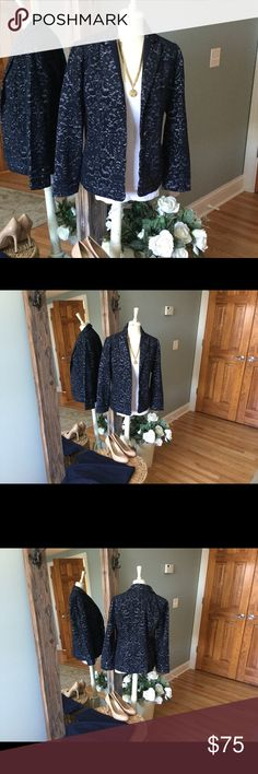 CAbi Soft Blazer Classy and Timeless beautiful jacket from Cabi.  Looks great dressed up for a night out or professionally.  Soft fuzzy material that is textured and easy to wear. CAbi Jackets & Coats Blazers