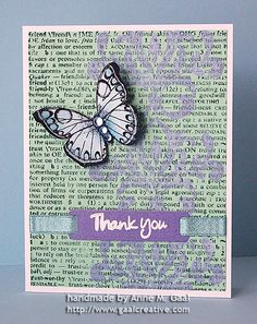 Speckled Friendship Thank You Card by Anne Gaal of Gaal Creative at http://www.gaalcreative.com - Feel free to re-pin! ♥
