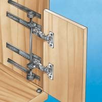 Concealed door slides hardware horizontal or vertical interior renovation pinterest - Retractable kitchen cabinet doors ...