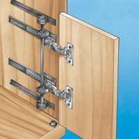 Concealed door slides hardware horizontal or vertical interior renovation pinterest - Retractable kitchen cabinet doors ...