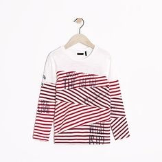Tee-shirt marinière rouge