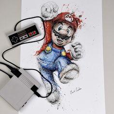 Mario Bros by Erick Centeno