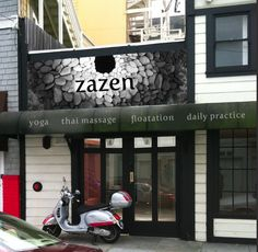 proposed signage design for zazen wellness spa in San Francisco
