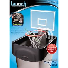 M ll on pinterest recycling diy and thread catcher - Garbage can basketball hoop ...