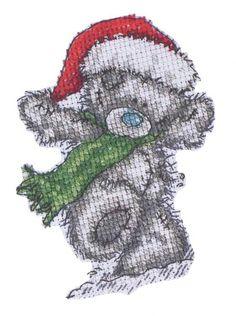 Cross-stitch Christmas Tatty Teddy, part 1