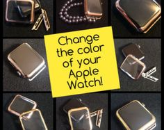 TimeKits are mens and womens interchangeable straps, covers and/or charms that go together to create customized Apple Watch looks. These include items Gold Apple Watch, Apple Watch Faces, Ipad Air 2, Feminine Apple Watch Bands, Cool Watches, Watches For Men, Popular Watches, Stylish Watches, Casual Watches
