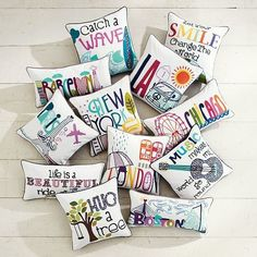 PB Teen throw pillow: