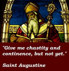 Saint Augustine's admission of fault from his youth, as related in his later published ' Confessions'. Description from pinterest.com. I searched for this on bing.com/images