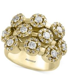 D'Oro by Effy Diamond Ring (1-5/8 ct. t.w.) in 14k Gold - Gold