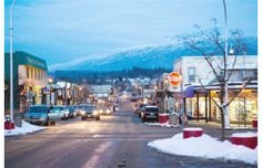 Snow-covered trees of Larch Hills are seen east down Hudson Street as afternoon shoppers head for home from downtown Salmon Arm. Snow Covered Trees, The Province, Love Photos, Christmas Photos, British Columbia, Places To Travel, Photo Galleries, Newspaper Article, Canada
