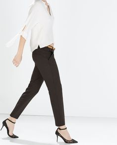 ZARA - WOMAN - MINI POLKA DOT BELTED TROUSERS