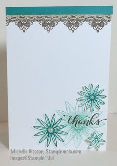 Grateful Bunch, StampinMojo, Michelle Gleeson, Stampin' Up!, Thank you card