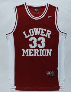 ea05975370874d Los Angeles Lakers 33 Kobe Bryant Red Lower Merion High School NBA Jerseys