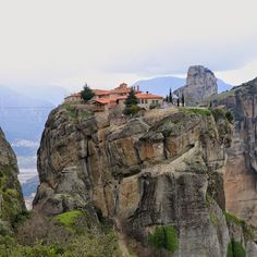 Holy Trinity Monastery, Meteora, Greece Name Search, Mount Rushmore, Greece, Places To Visit, Mountains, Water, Travel, Outdoor, Greece Country
