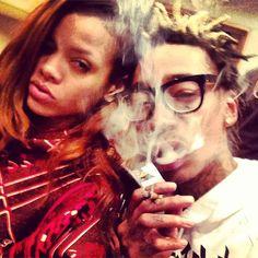 Rihanna & Wiz Khalifa Blaze Up . My two favorite ppl