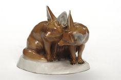 Groupe sculpté [Fennecs] - Edouard Marcel Sandoz -Présenté à l'Exposition internationale des Arts décoratifs et industriels modernes de Paris en 1925