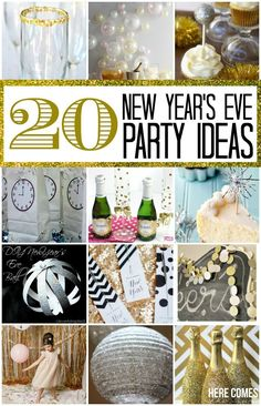 20 New Year's Eve Party Ideas - Happy New Year, from all of us at Clint Newell Auto! New Year's Eve Celebrations, New Year Celebration, Nye Party, Party Time, Theme Nouvel An, Silvester Diy, New Years Eve 2016, New Year's Eve Appetizers, Christmas Appetizers