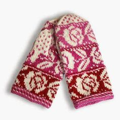 Stricken Design by Finnish crafts center Taitopirkanmaa in Tampere Knitted Mittens Pattern, Fair Isle Knitting Patterns, Crochet Mittens, Fingerless Mittens, Knitted Gloves, Knitting Socks, Knit Crochet, Wrist Warmers, Hand Warmers