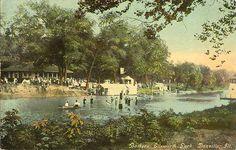 Danville, IL - Ellsworth Park - Bathers - Postcard - 1910.
