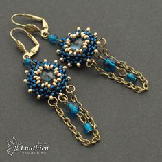 Gaia 02 by Luuthien - earrings in antique style with swarovski