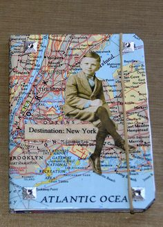 Excited to share the latest addition to my #etsy shop: New York travel journal/ New York City/ map journal/ handmade mini journal/ junk journal/ smash book / travel planner / purse notebook http://etsy.me/2HQ2ex1 #booksandzines #journal #blue #retirement #mothersday #b