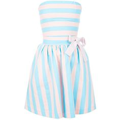 LOVE MOSCHINO two-tone bandeau dress