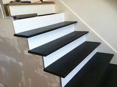 Elegant DIY Black Stair Treads