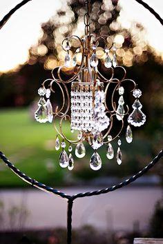 Love outdoor chandeliers!