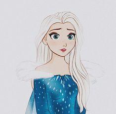 Princess Movies, Disney Princess Art, Disney Princess Pictures, Disney Fan Art, Cute Frozen, Frozen Art, Disney Frozen Elsa, Fairy Tail, Disney Pocahontas