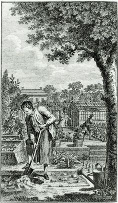 1767 Frontispiece of Thomas Mawe  John Abercrombie  Every man his own gardener