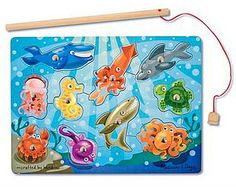 Tottotween - Kids Games - Melissa and Doug Magnetic Fishing Game   10-Piece Magnetic Fishing Game. Justin loves this puzzle!