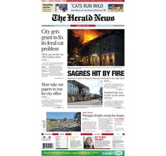 The front page of The Herald News for Monday, July 8, 2013. #fallriver