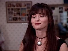 """Brenda,, along with her incredibly gorgeous,,(""""Sexy Hot Goddess Bangs"""")! Shannon Dorothy, Heather Duke, 90s Aesthetic, Aesthetic Fashion, Bad Girl Image, 90210 Fashion, 90s Pop Culture, Clueless Outfits, Film Icon"""