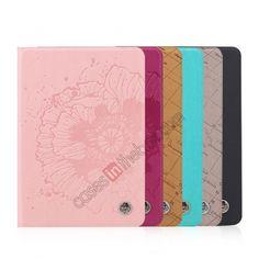 ROCK Impres Series Grey Leather Folio Case Cover Stand For Ipad Mini 2 Retina 16077