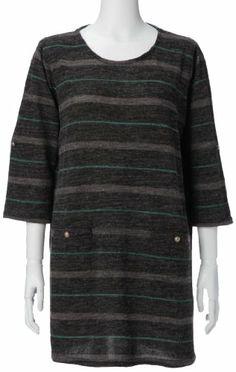 Amazon.co.jp: (グランデル)GRANDE ELL マルチボーダープリントチュニック: 服&ファッション小物