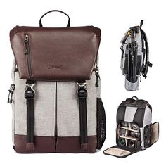 0a67d2afad Amazon.com: TARION RB-02 Camera Backpack Large DSLR Mirrorless Cameras Bag  Waterproof for Lens Tripod Tablet Men Women Photographer: MetroVision US