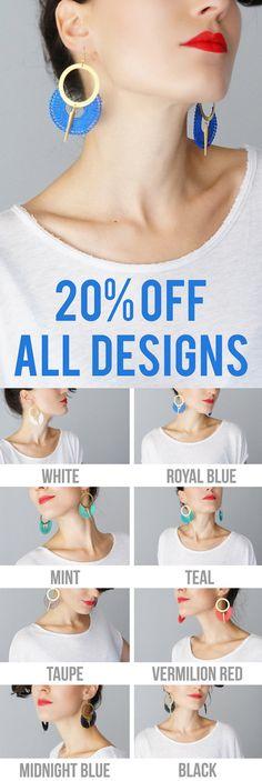 Ocri // Hoop Earrings/ Royal Blue Earrings/ Lace Earrings/ by EPUU