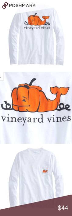 Vineyard Vines Halloween Tee Coolest VV shirt. It's a men's shirt, size Small. Equivalent to a women's M-L. It's super comfy and also brand new w/ tags attached. I can sell on Merc too. (I have multiple numbers of this tee) Vineyard Vines Tops Tees - Long Sleeve