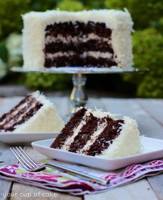 Easy Chocolate Coconut Cake (Your cup of cake) Cupcakes, Cupcake Cakes, Poke Cakes, Layer Cakes, Cake Icing, Just Desserts, Delicious Desserts, Cupcake Recipes, Dessert Recipes