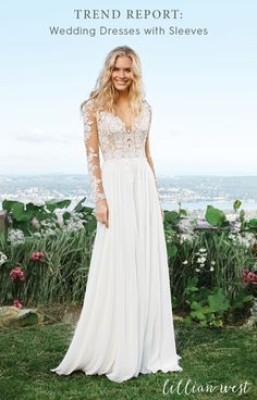 7165a2b6384 Wedding Dress out of Lillian West 6422 Feel dreamy in this feminine chiffon  A-line gown with an illusion V-neckline