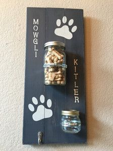 Large Dog Treat Holder | Dog Leash Holder | Dog Leash Hanger | Mason Jar | Pet Wall Decor | Dog Decor | Pet Lovers | Dog Stuff | Gift Ideas