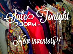 Join us tonight June 6, 2016 at 7:30pm est for our weekly online #lularoe #sale with new prints and inventory!