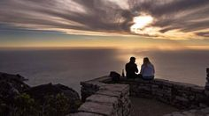 An African sunset from the top of one of the world's New 7 Wonders of Nature is a truly spectacular sight. 7 Natural Wonders, African Sunset, Sunset Images, Romantic Things To Do, Mountain Photos, Table Mountain, Places To Go, Photo Galleries, World