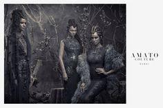 Amato Couture Ad campaign...:) hair and makeup: Jojo Dantespadua photographer: Tina Patni designer: Furne Oné Oné of Amato Couture