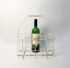 French Vintage Caddie Bottle Carrier - Country Kitchen