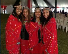 Moipei Sisters - musical sisters from Kenya African Print Wedding Dress, South Afrika, Traditional Wedding Attire, Kenya, Tanzania, African Fashion, Beautiful People, Outfits, Beauty